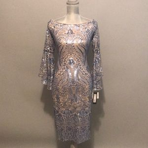 Betsy and Adam Long Sleeve Dress Size 10